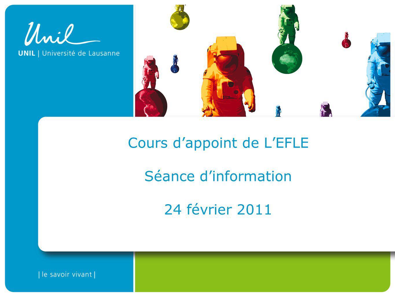 Cours dappoint de LEFLE Séance dinformation 24 février 2011