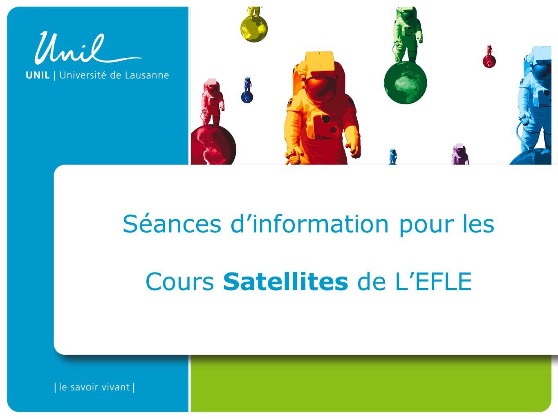 Séances dinformation pour les Cours Satellites de LEFLE