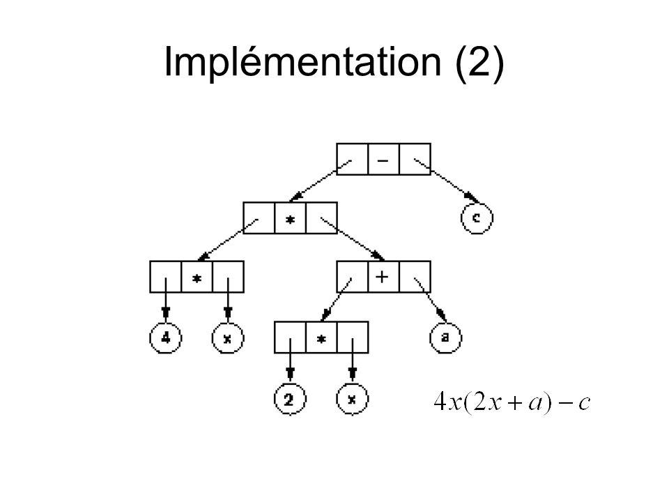 Implémentation (2)