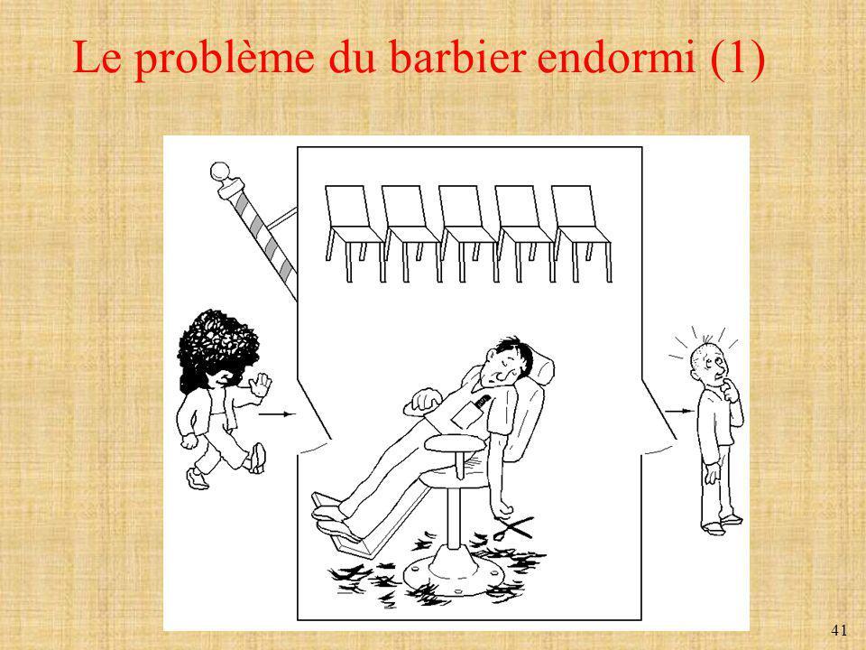 41 Le problème du barbier endormi (1)