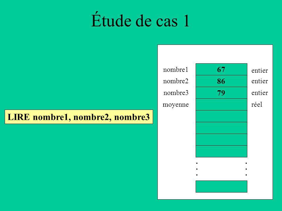Étude de cas 1 LIRE nombre1, nombre2, nombre3 86............
