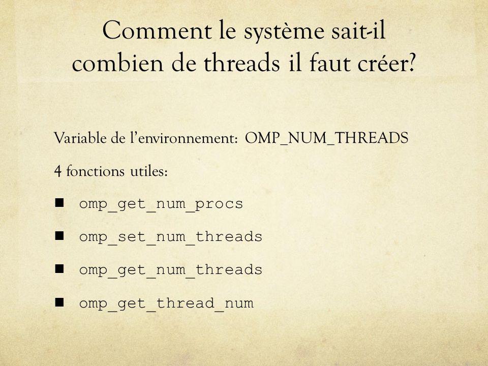 Comment le système sait-il combien de threads il faut créer.