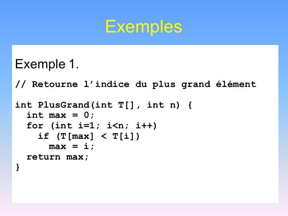Règles de simplification 6 log k n O(n ) pour toutes constantes k>0 et >0