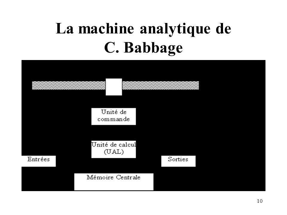 10 La machine analytique de C. Babbage