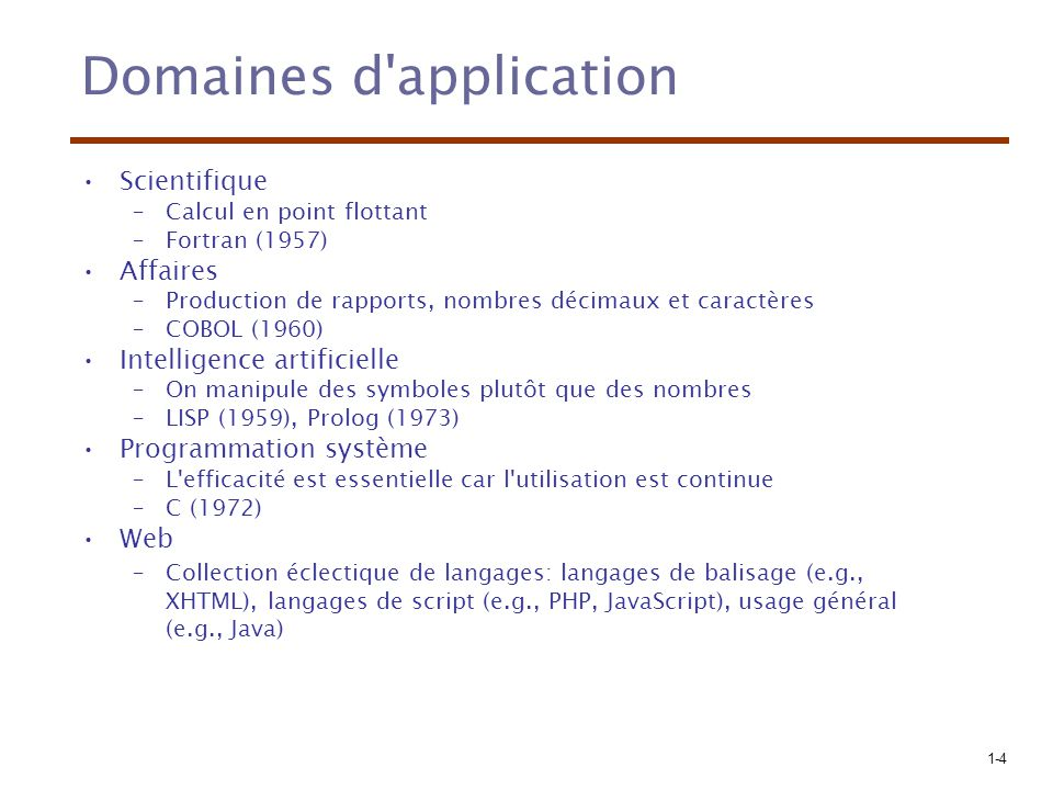 1-15 Architecture de von Neumann Mémoire Périphérique de sortie Périphérique d entrée UAL Contrôle Processeur