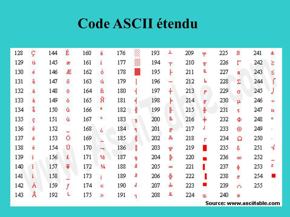 Code ASCII étendu