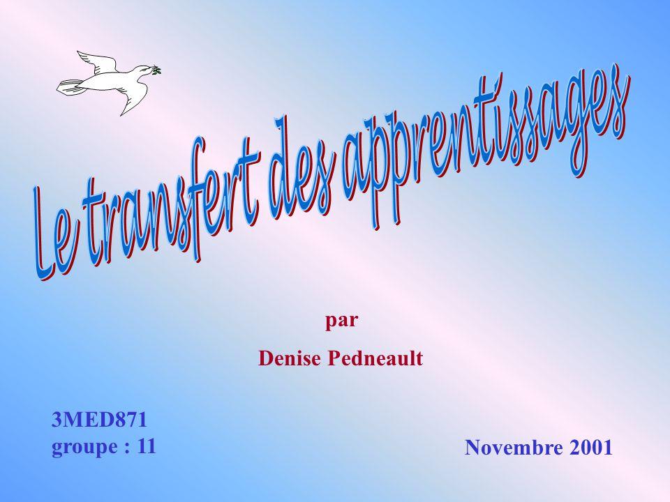 3MED871 groupe : 11 Denise Pedneault Novembre 2001 par