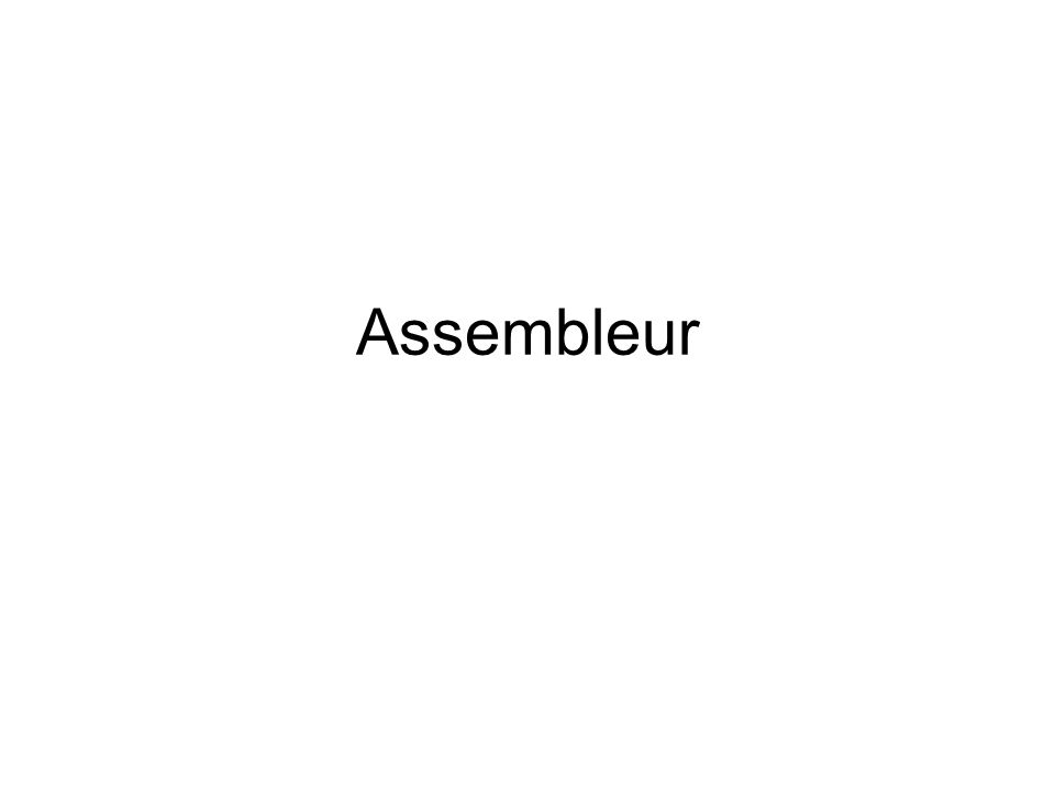 Djamal Rebaïne12 Léquivalent de quelques instructions du langage C en assembleur if then else Assembleur If ax =1 if: CMP AX, 1 bx = 10; JNZ Else else { bx = 0; Then: MOV BX,10 cx = 10; JMP endif } Else: MOV BX,0 MOV CX,10 endif:..............