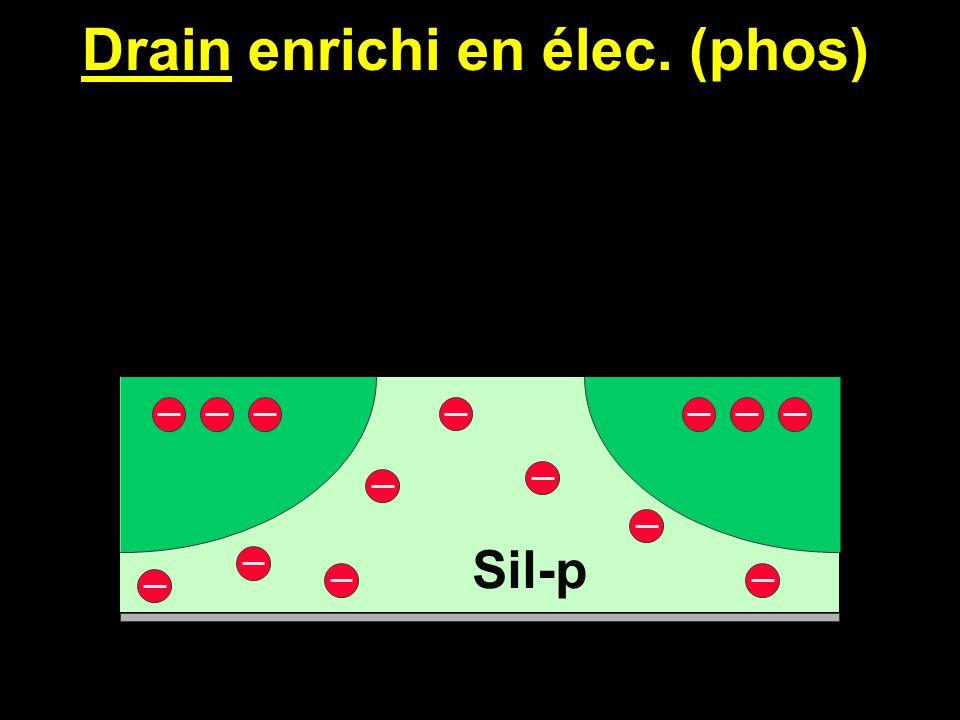 Source enrichie en élec. (phos) Sil-p