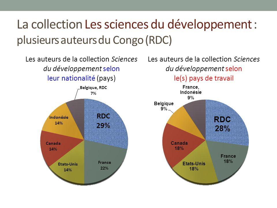 La collection Les sciences du développement : plusieurs auteurs du Congo (RDC)