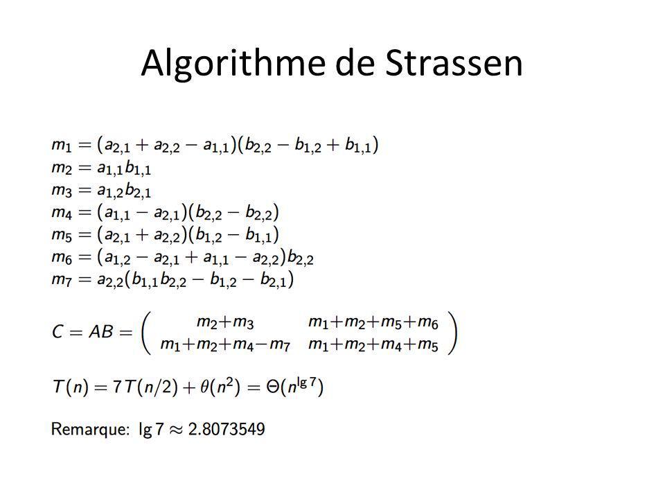 Algorithme de Strassen