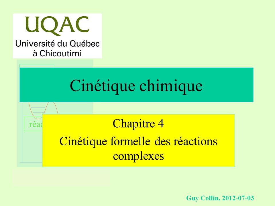 réactifs produits énergie temps Guy Collin, 2012-07-03 Cinétique chimique Chapitre 4 Cinétique formelle des réactions complexes