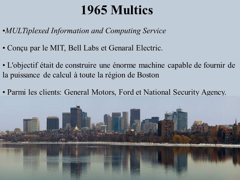 MULTiplexed Information and Computing Service Conçu par le MIT, Bell Labs et Genaral Electric. L'objectif était de construire une énorme machine capab