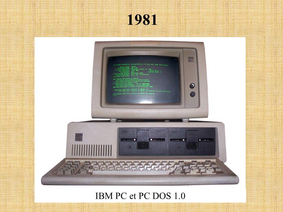 1981 IBM PC et PC DOS 1.0