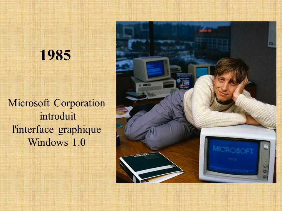 1985 Microsoft Corporation introduit l'interface graphique Windows 1.0