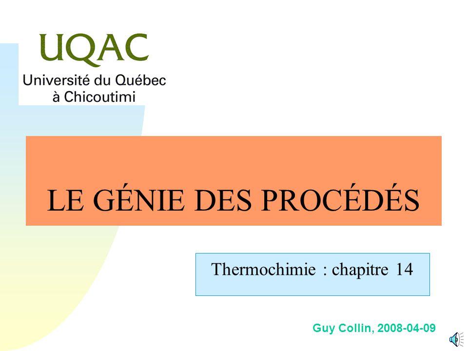 G = H - T S Conclusion n Si le (la) chimiste calcule et prévoit comment un mélange réactionnel va se comporter, il se préoccupe moins de la mise en œuvre des réactions, des procédés de synthèses, de transformations industrielles.