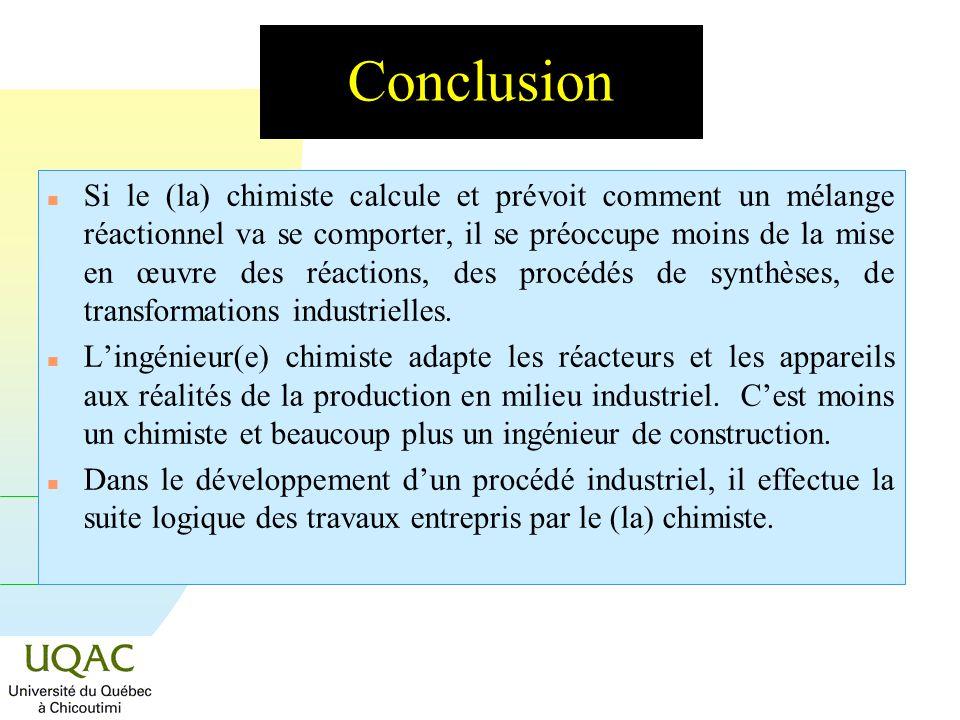 G = H - T S Le cristallisoir : la cinétique n La vitesse des processus est un élément tout aussi important. n La vitesse de transfert de chaleur dans