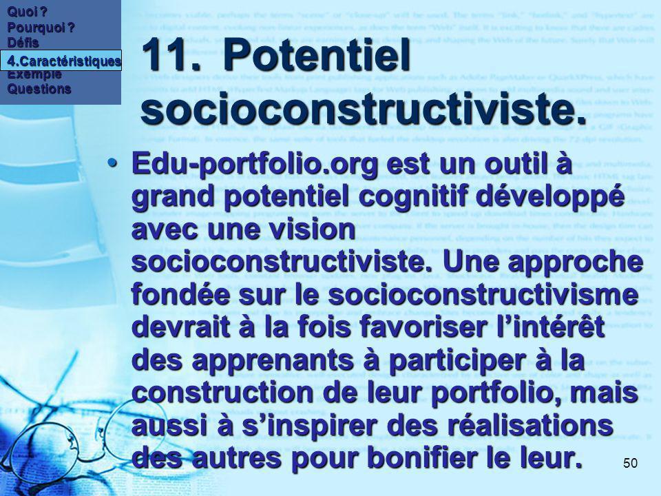 50 11.Potentiel socioconstructiviste. 11.Potentiel socioconstructiviste.