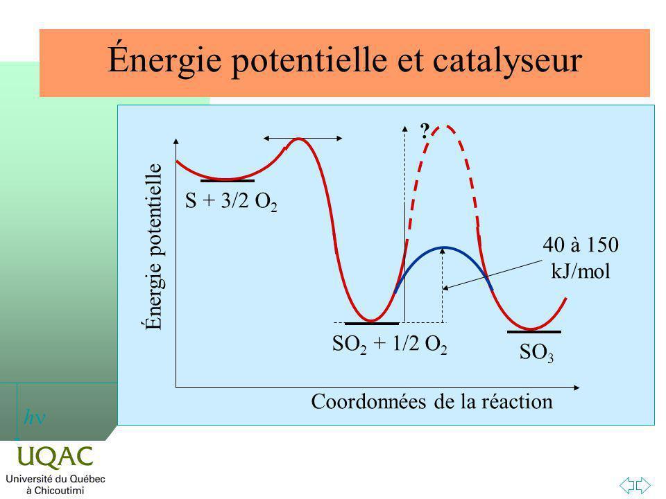 h Énergie potentielle et catalyseur .