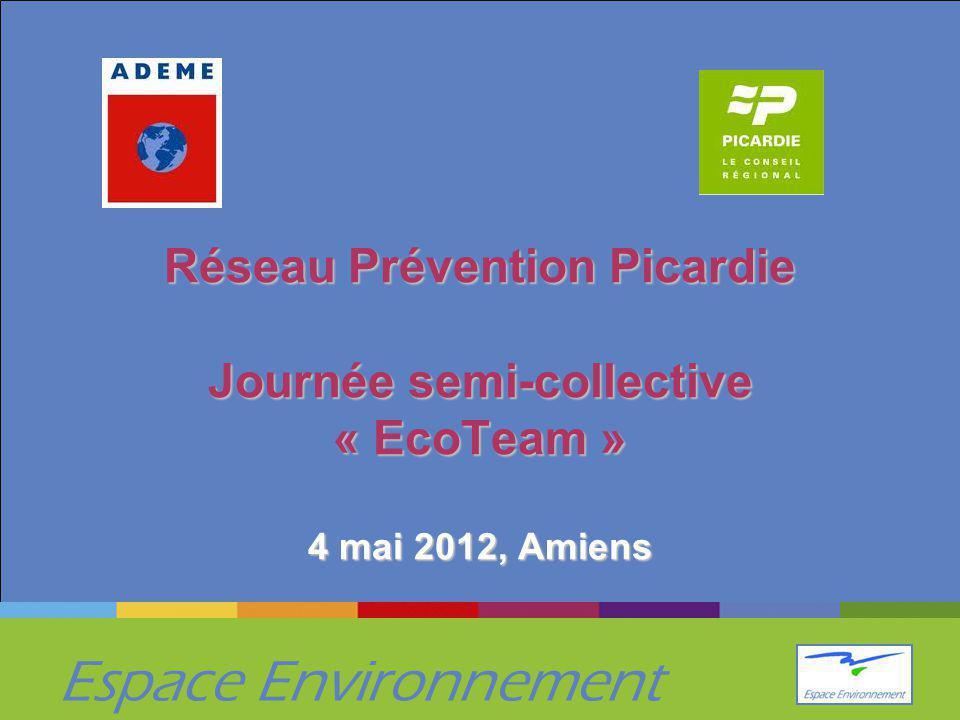 Espace Environnement Réseau Prévention Picardie Journée semi-collective « EcoTeam » 4 mai 2012, Amiens