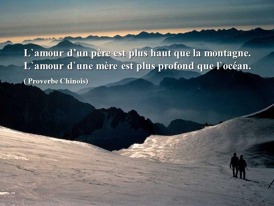 La mer la plus profonde a un fond, la montagne la plus haute a une cime. (Proverbe Chinois)