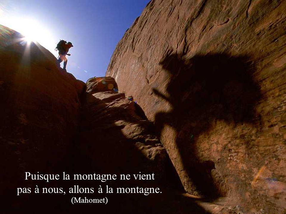 Puisque la montagne ne vient pas à nous, allons à la montagne. (Mahomet)