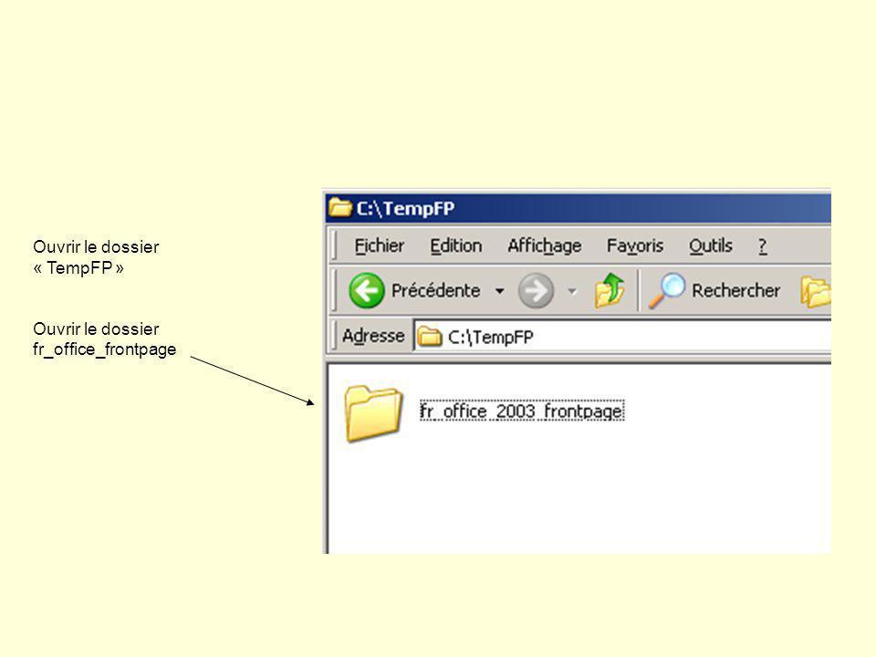 Ouvrir le dossier « TempFP » Ouvrir le dossier fr_office_frontpage