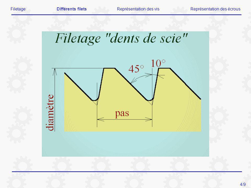 FiletageDifférents filetsReprésentation des visReprésentation des écrous 4/9