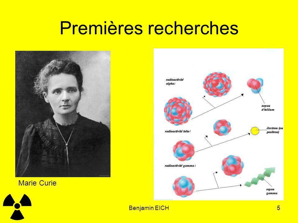 Benjamin EICH5 Premières recherches Marie Curie