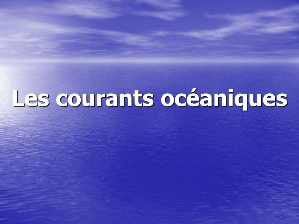 Les courants de surfaces causés par les vents causés par les vents plus ou moins constant plus ou moins constant entre 10 et 200m de profondeur entre 10 et 200m de profondeur