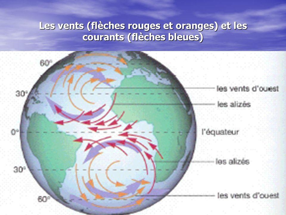 Trois facteurs contrôle la direction des vents et les courants réchauffement inégale de la terre réchauffement inégale de la terre la rotation de la terre la rotation de la terre les continents les continents