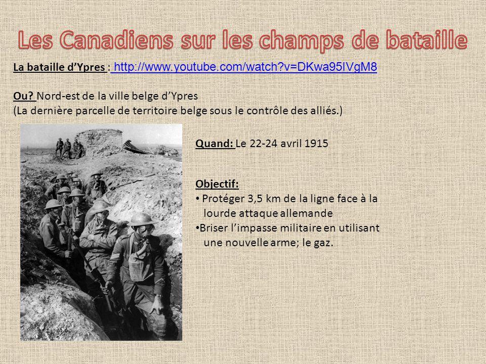 Ce qui distingue cette bataille: Les Allemands ont utilisé pour la première fois 160 tonnes de gaz.
