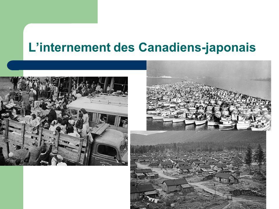 Linternement des Canadiens-japonais