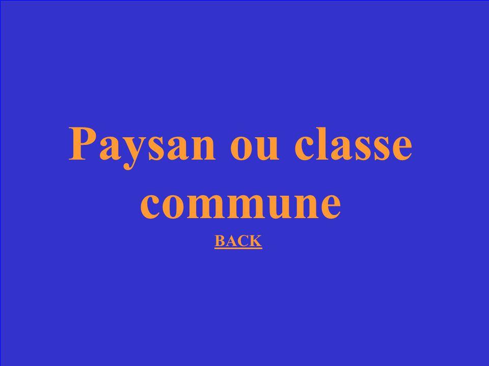 La majorite des Francais appartenaient a quelle classe sociale au 18e siecle?