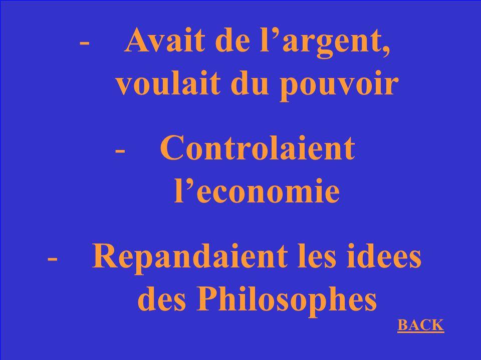 Pourquoi les Bourgeoises etaient-ils une cause de la Revolution?