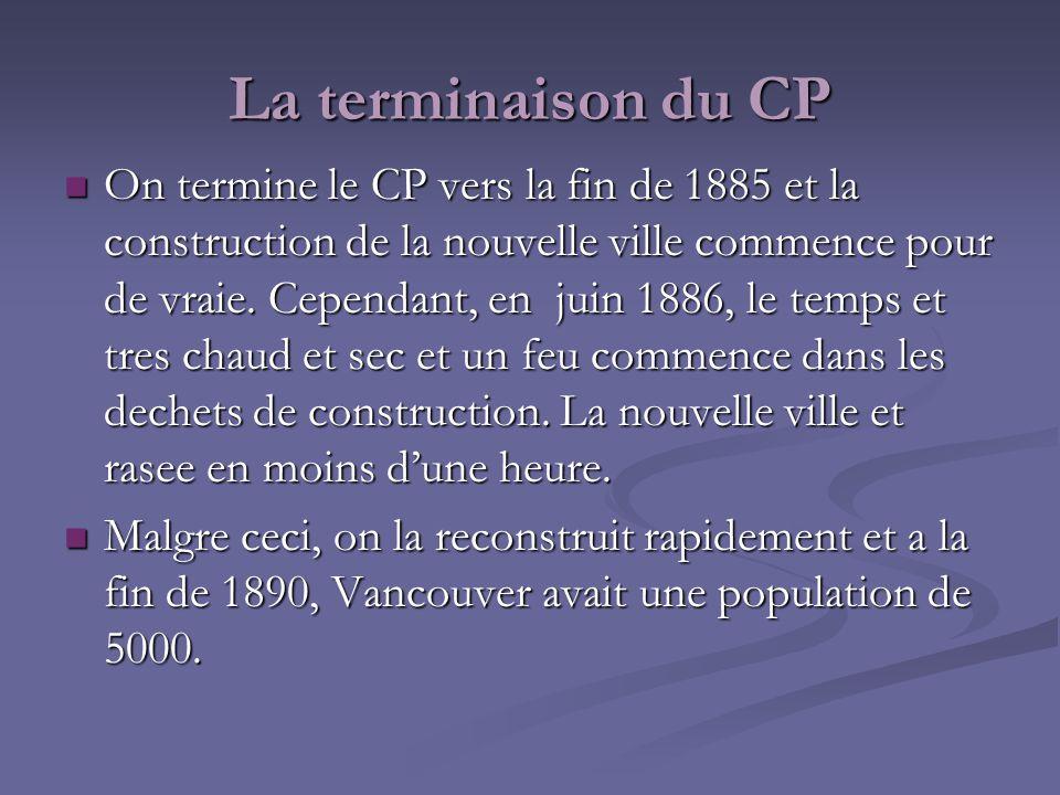 On termine le CP vers la fin de 1885 et la construction de la nouvelle ville commence pour de vraie. Cependant, en juin 1886, le temps et tres chaud e