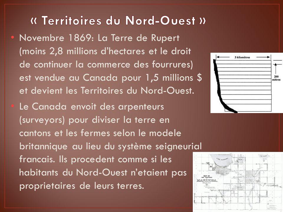 Louis Riel, fils de Louis Riel père – chef des Metis jusquà sa mort en 1864, revient a la RR en 1868 de lest ou il completait ses etudes.