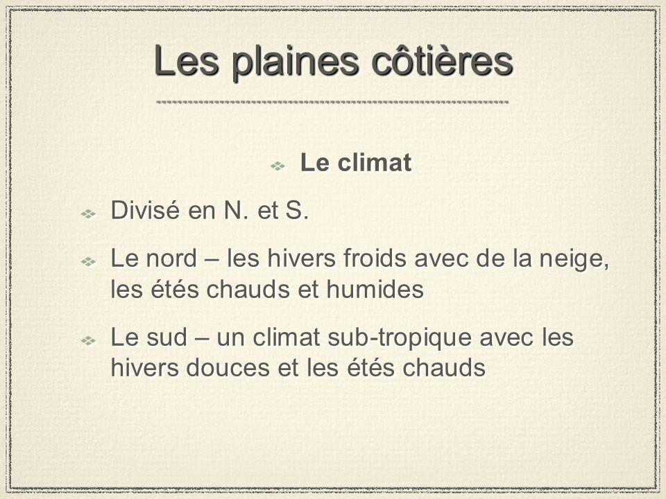 Le climat Divisé en N.et S.