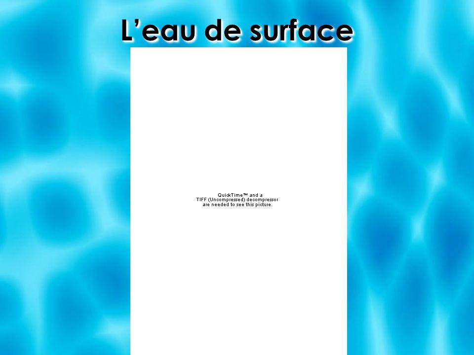 Leau de surface