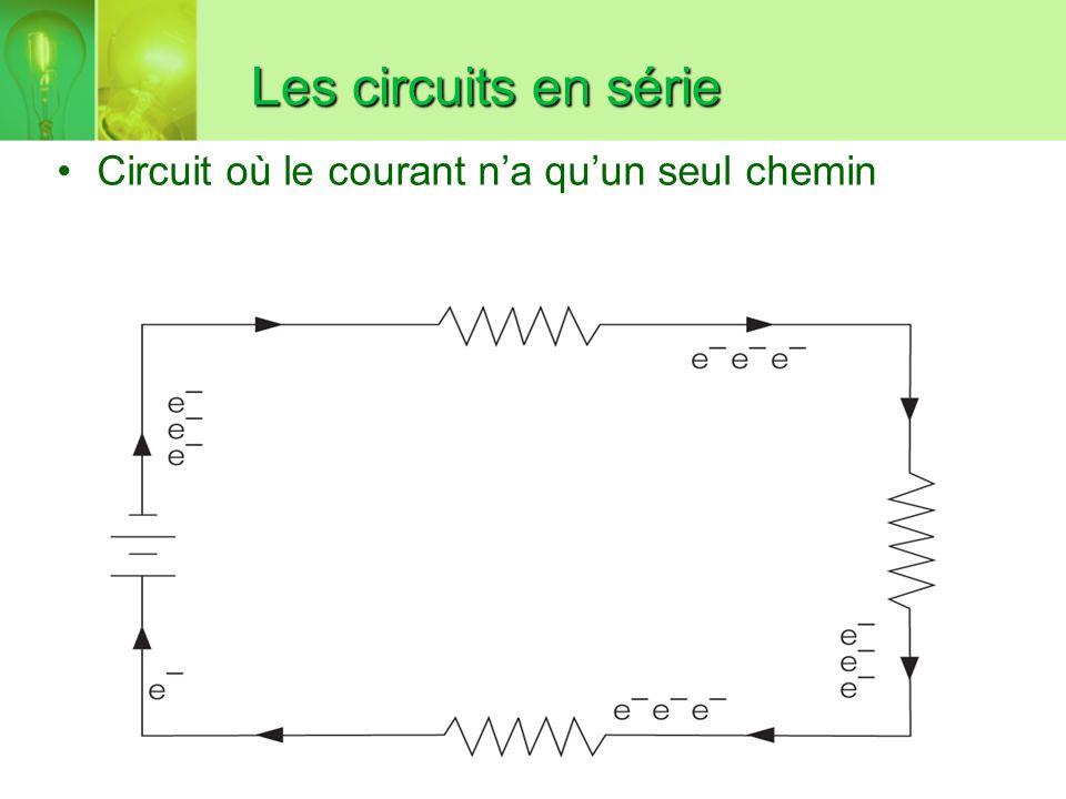 Les circuits en série Circuit où le courant na quun seul chemin