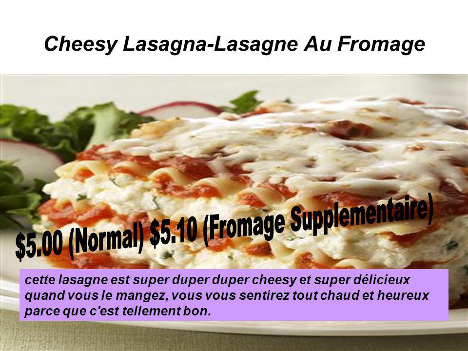 Cheesy Lasagna-Lasagne Au Fromage cette lasagne est super duper duper cheesy et super délicieux quand vous le mangez, vous vous sentirez tout chaud et heureux parce que c est tellement bon.