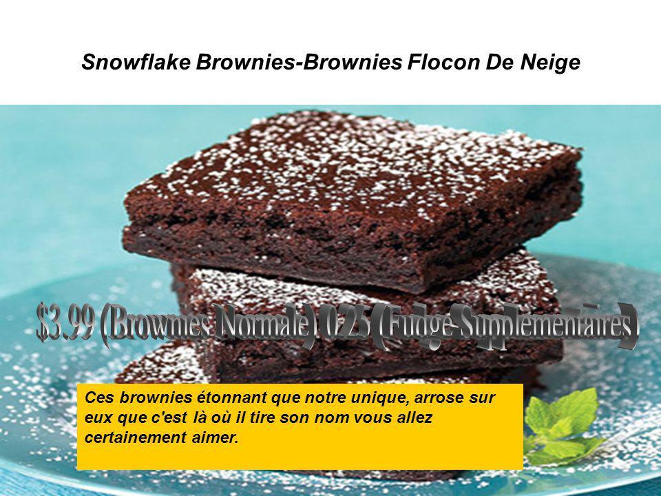 Snowflake Brownies-Brownies Flocon De Neige Ces brownies étonnant que notre unique, arrose sur eux que c'est là où il tire son nom vous allez certaine