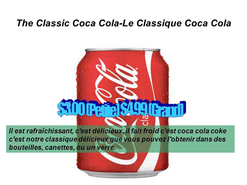 The Classic Coca Cola-Le Classique Coca Cola Il est rafraîchissant, c est délicieux, il fait froid c est coca cola coke c est notre classique délicieux que vous pouvez l obtenir dans des bouteilles, canettes, ou un verre.
