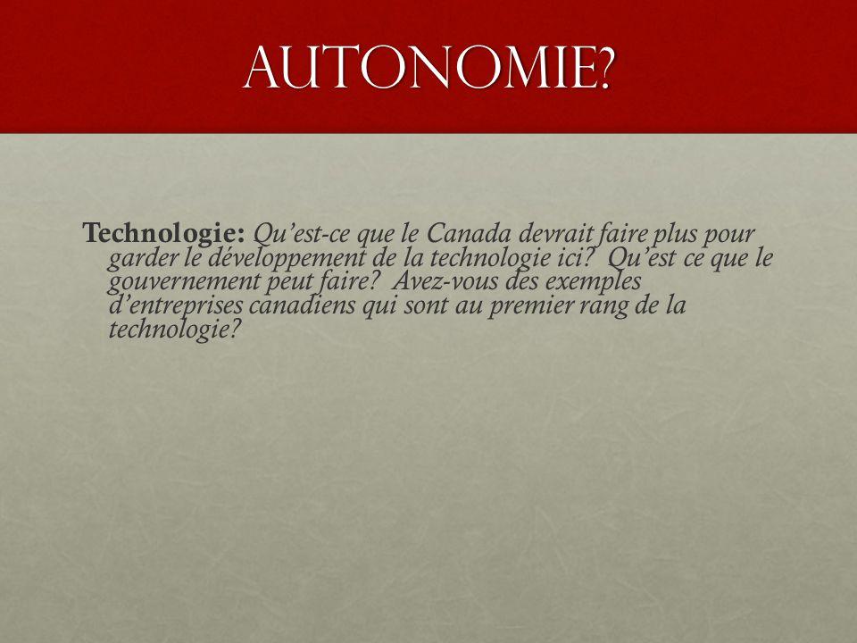 Autonomie.