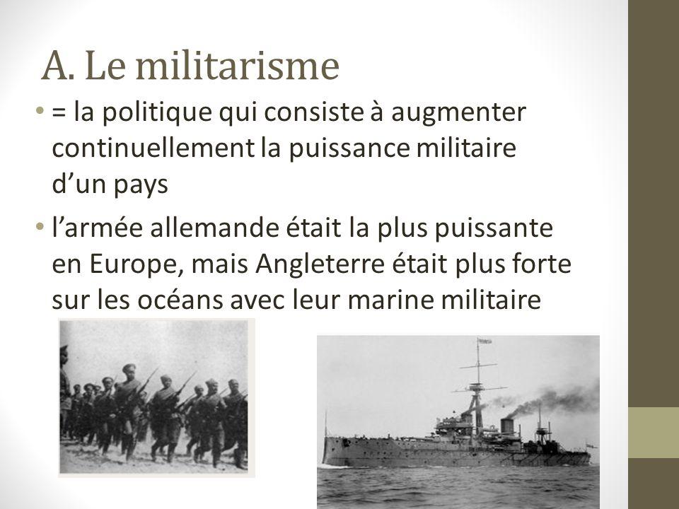 1. Les causes principales de la Première Guerre mondiale