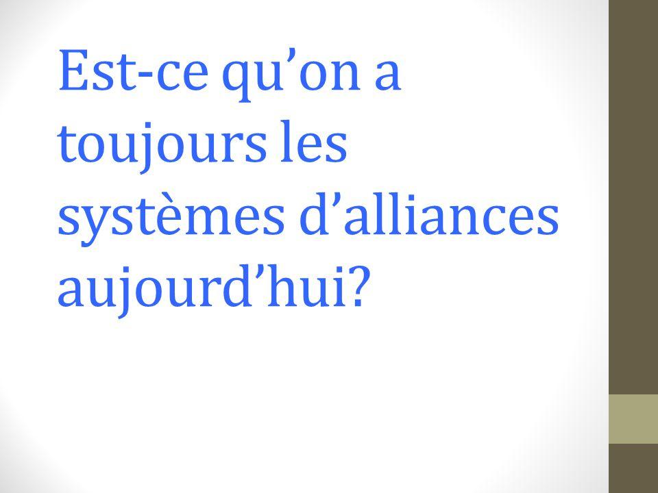 Le problème avec les alliances – une déclaration de guerre contre un état équivalait à une déclaration contre lalliance entière