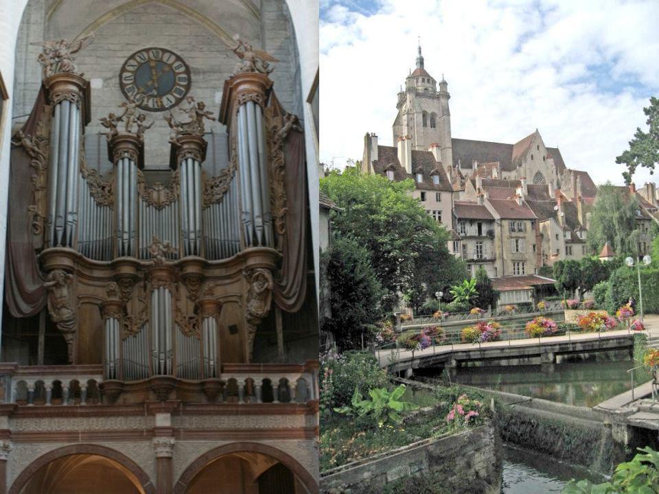 La collégiale Notre Dame de Dole date de lépoque médiévale, cest une très belle construction de style gothique. Elle possède, entre autres merveilles,