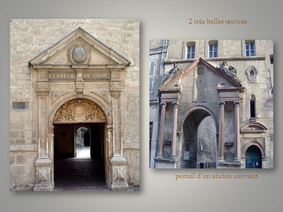 portail dun ancien couvent 2 très belles œuvres