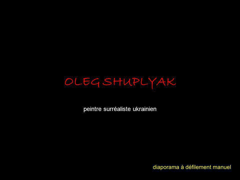 Oleg Shuplyak est un peintre dont les travaux portent sur des portraits de personnalités célèbres tirés de telle manière que les objets communs et les paysages constituent leurs visages distinctifs en forme fusionnée.