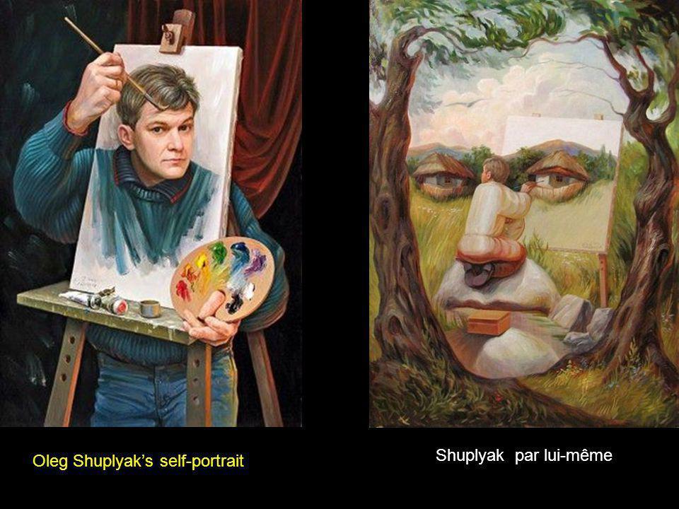 Oleg Shuplyaks self-portrait Shuplyak par lui-même